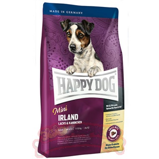 Корм HAPPY DOG Mini Irland для собак мелких пород с лососем и кроликом 300г