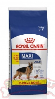 Корм ROYAL CANIN  Maxi Adult корм для собак крупных пород ,Макси Эдалт 15 + 3 кг