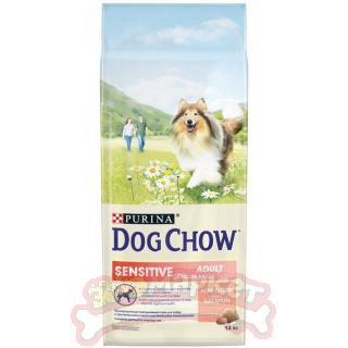 "DOG CHOW ""Sensitive"" сухой 14 кг для собак старше 1 г Лосось"