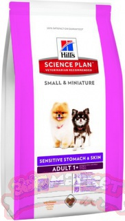 Корм для собак Hill's (0.3 кг) Science Plan Canine Adult 1+ Small & Miniature Sensitive Stomach & Skin with Chicken